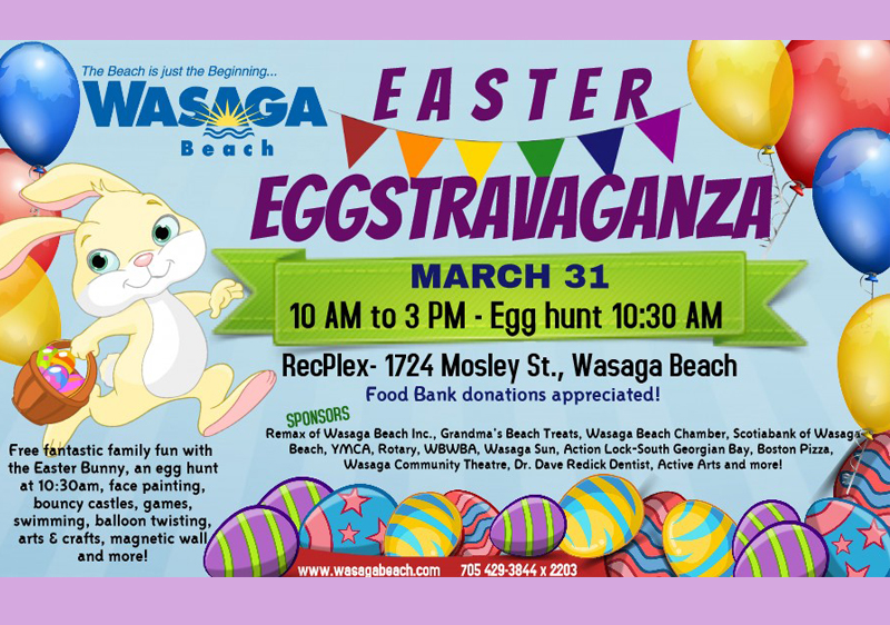 March 31 – Enjoy an Easter Eggstravaganza and Market When You Visit Stayner This Weekend