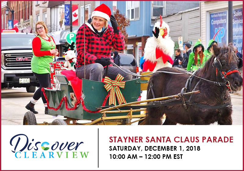 November 30 – December 2 – Welcome the Holiday Season When You Visit Stayner This Weekend